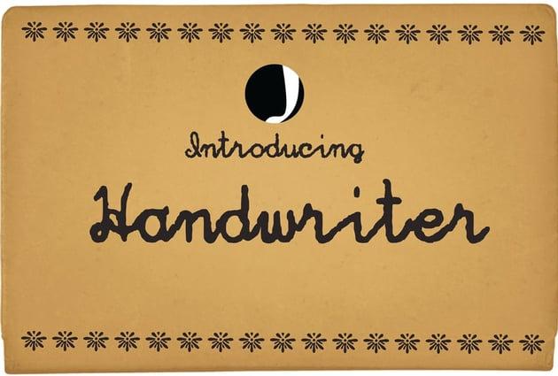 Hand Writer Typeface