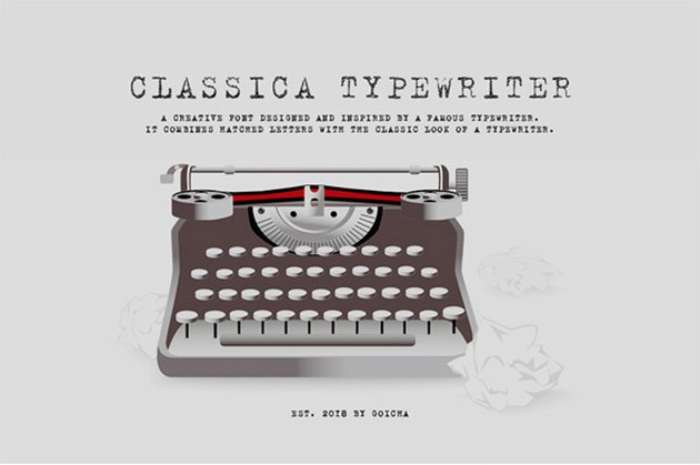 Classica - Hatched Typewriter Font