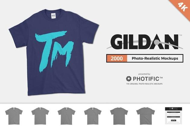 Gildan 2000 T-Shirt Mockups