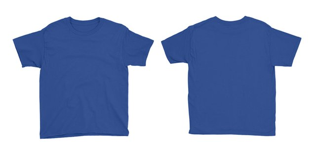Childrens Front and Back T-shirt Mockup