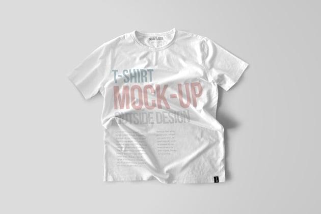 Basic White T-Shirt Mockup