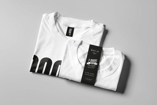 Folded T-Shirt Mock-up