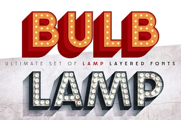 3D Bulb Lamp Alphabet