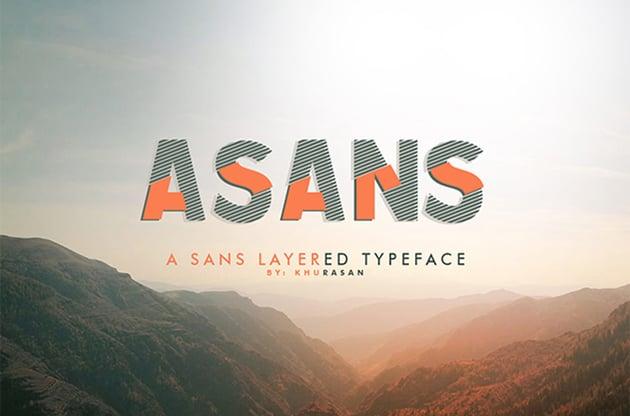 Asans Layered Font