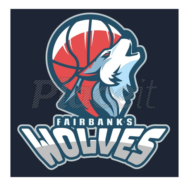 Basketball Team Logo With Wolf Icon