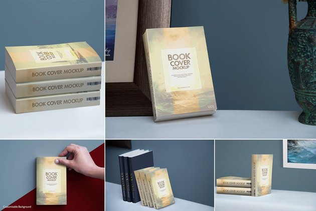 Softcover Book Mockups