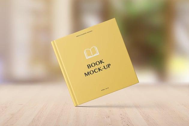 Hard Cover Square Book Mockup