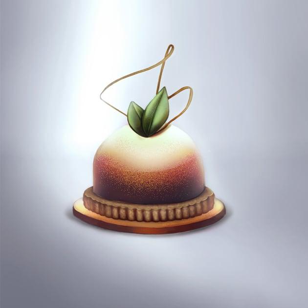How to paint a fancy dessert