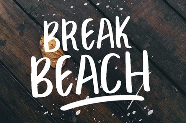 Break Beach Brush Font