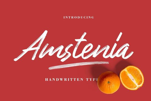 Amstenia Typeface