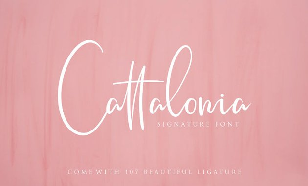 Cattalonia Signature Font