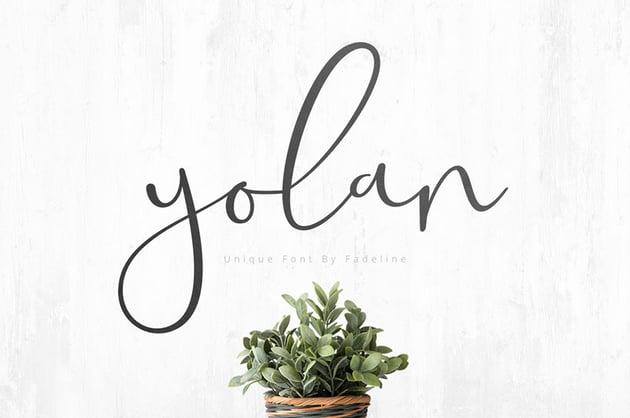 Yolan Unique Font