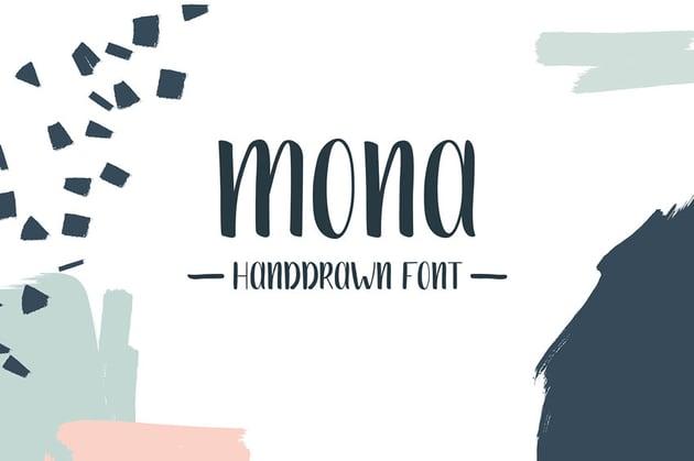 Mona Free Hand Drawn Font
