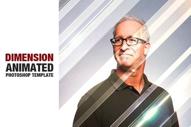Dimension Animated Photoshop Template