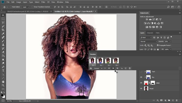 frame animation in photoshop
