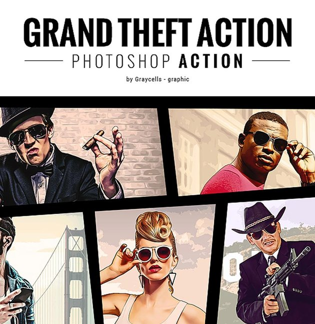 Grand Theft Photoshop Actions
