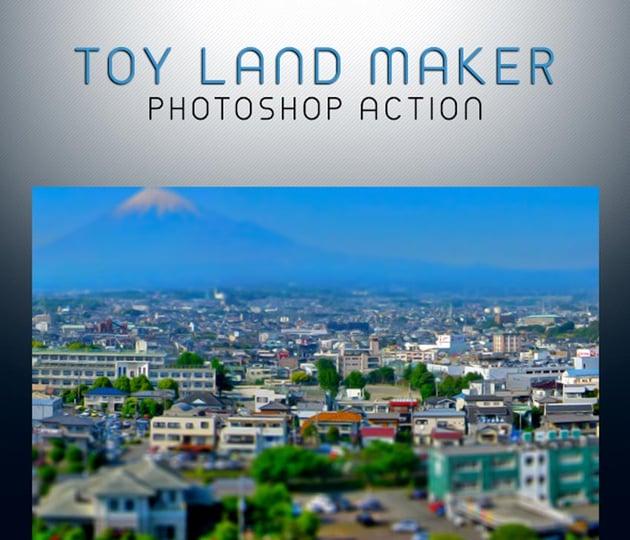 Toy Land Maker Photoshop Action