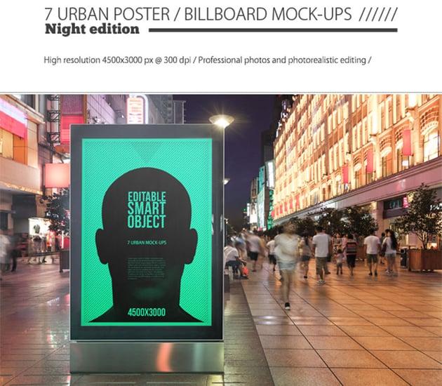 Urban Poster Billboard Mock-ups