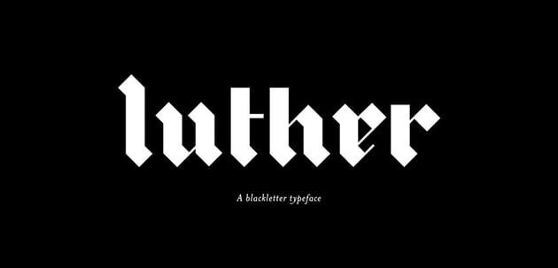 Luther Blackletter Typeface