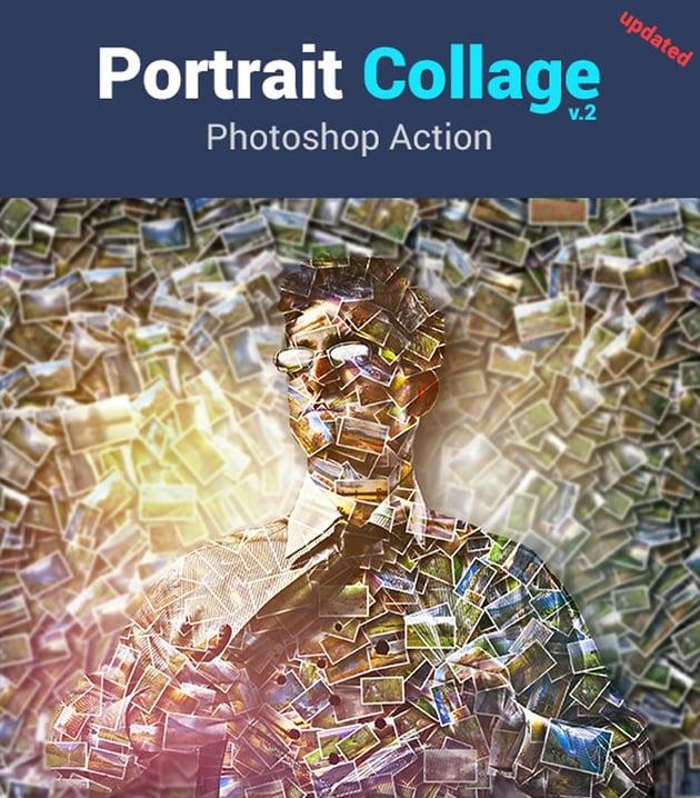 Portrait Collage Photoshop Action