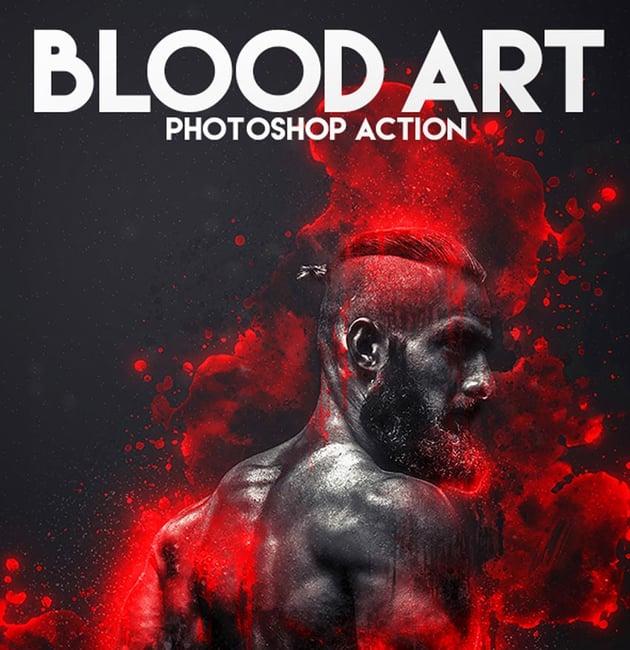 Blood Art Portrait Photoshop Action