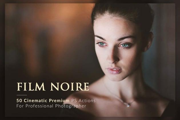 50 Film Noire Portrait Photoshop Actions