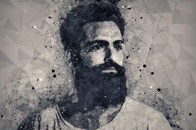 Geometric Portrait Art Photoshop Action