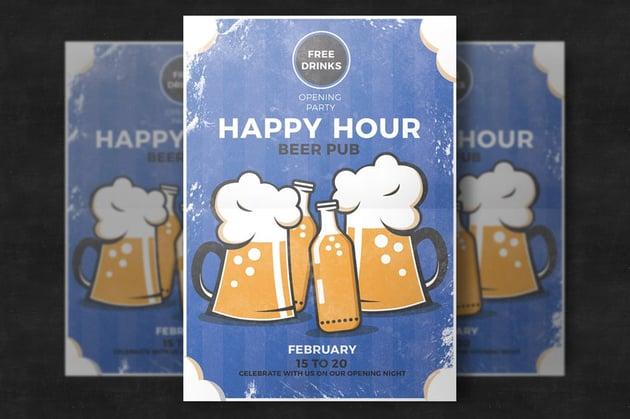 Pub Happy Hour Flyer Template