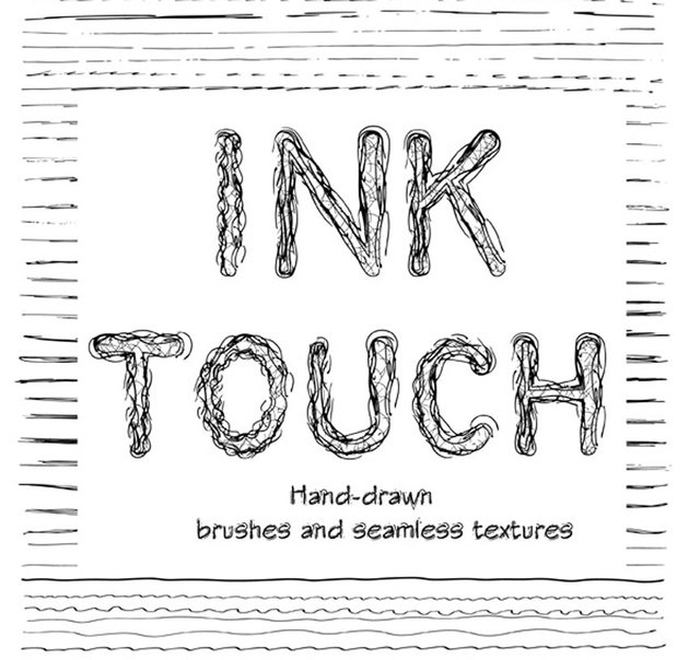 Creative Ink Sketch Lines and Patterns