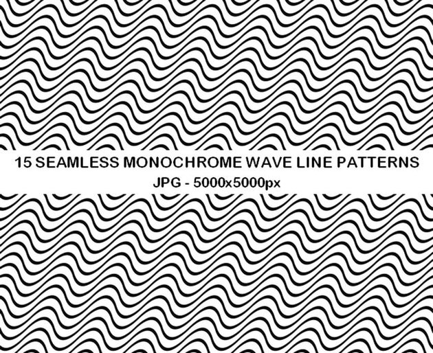 15 Seamless Wave Patterns