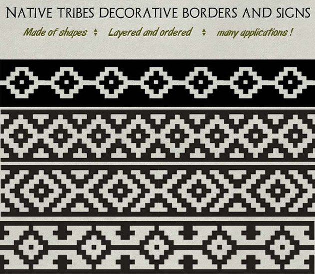 Decorative Native Tribe Patterns