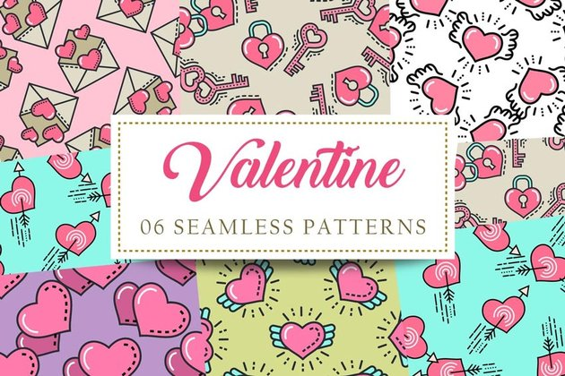 Valentine Seamless Patterns