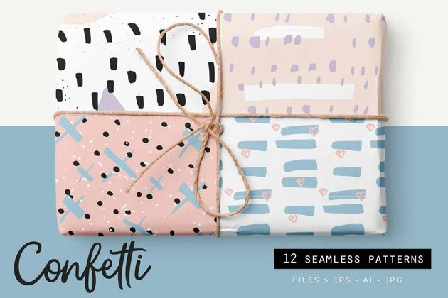 Confetti Style Line Patterns