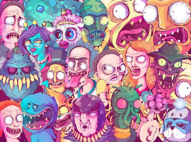Rick and Morty Character Illustrations