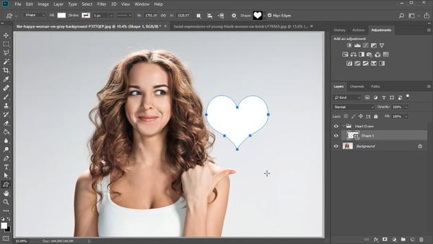 create a heart shape
