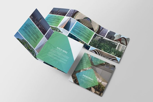 Moderno Square Trifold Brochure
