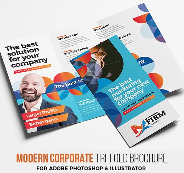 Modern Corporate Tri-Fold Brochure Template