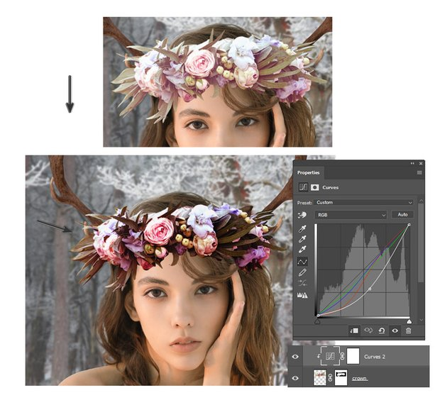 color the flower crown