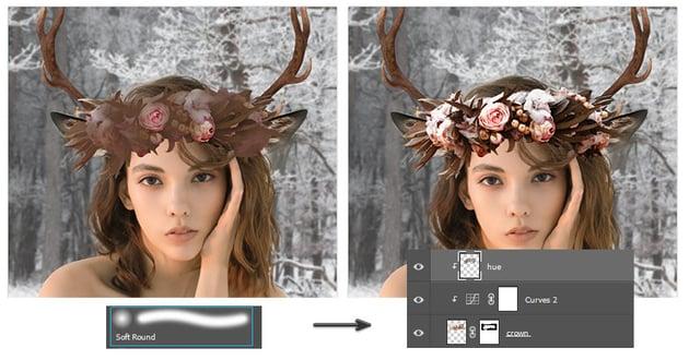 Recolor the floral crown