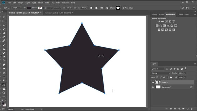 Use the star custom shape