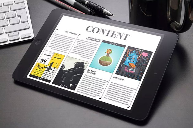 Melville Tablet InDesign Template