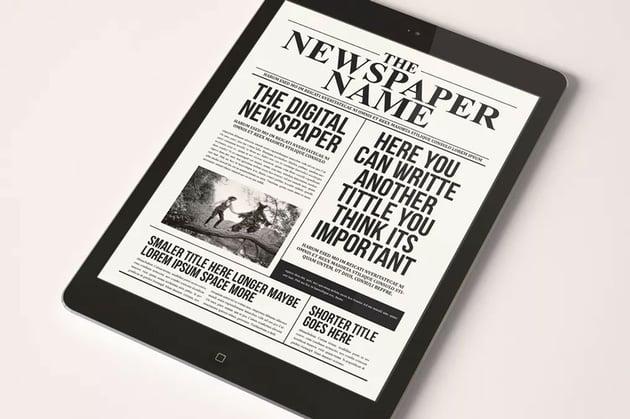 The Digital Newspaper Template