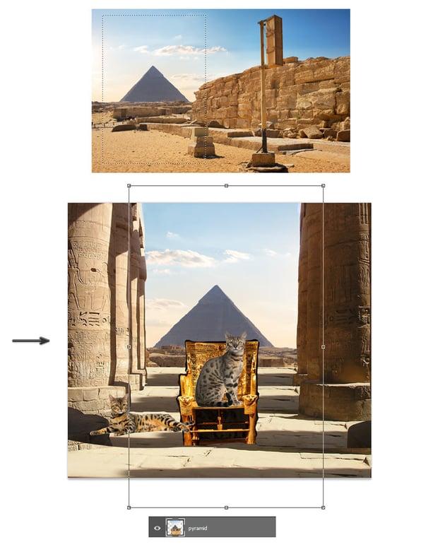 Add the pyramid
