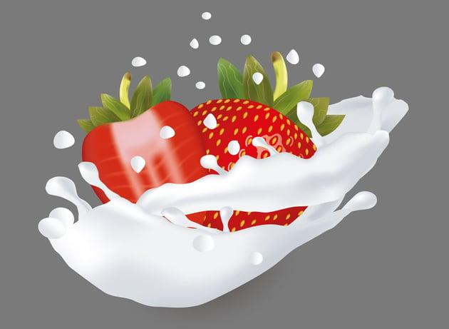 How to Use Gradient Mesh to Create Strawberries in a Milk Splash in Adobe Illustrator