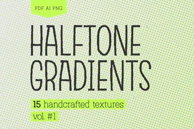 Halftone Gradients 1 Texture Pack