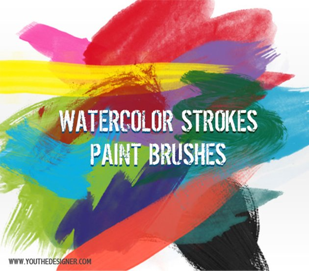 Free Watercolor Brushes Photoshop