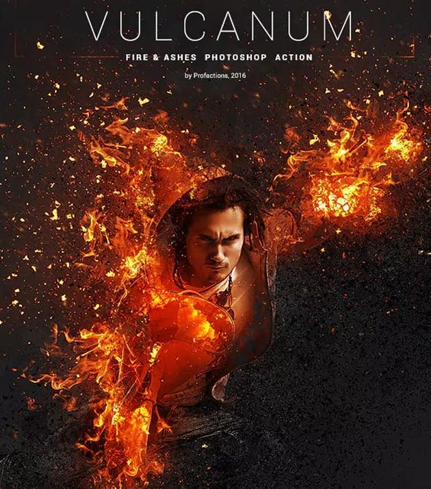Vulcanum - Fire Ashes Photoshop Action