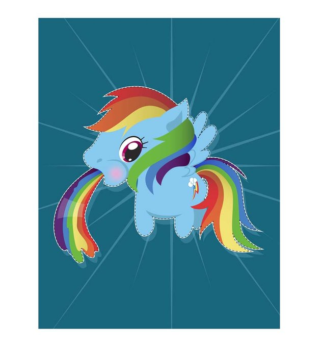 Create a Rainbow Vomiting Kawaii Unicorn in Adobe Illustrator