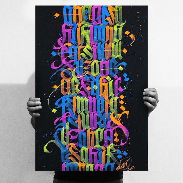 Neon Calligraphy