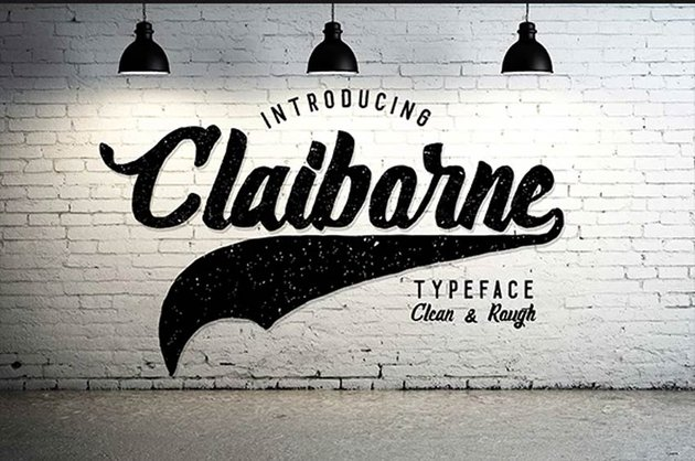 Claiborne Baseball Font With Tail